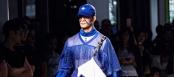 Gypsy Sport's model walks the runway at NYFW